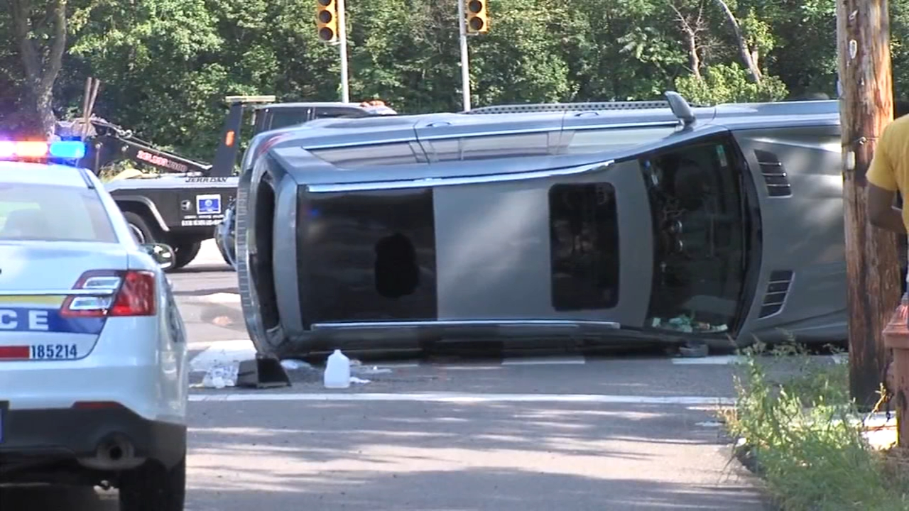 3 hospitalized after SUV crash on Roosevelt Boulevard. Watch this report from Action News at 5pm on September 2, 2018.