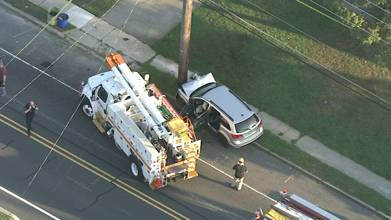 SUV slams into utility pole in Camden County. Chopper 6 was over the scene on September 3, 2018.