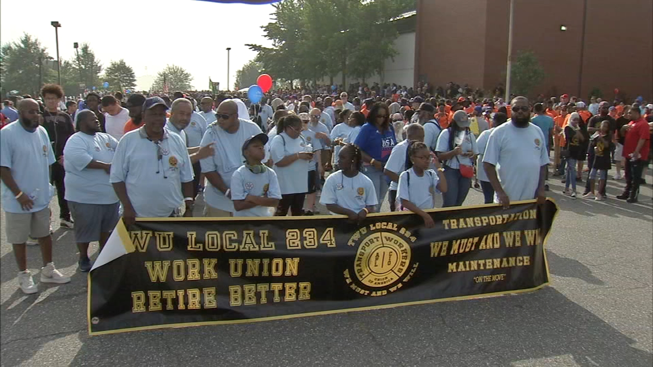 Philadelphia holds 30th Labor Day Parade. John Rawlins reports during Action News at 4pm on September 3, 2018.