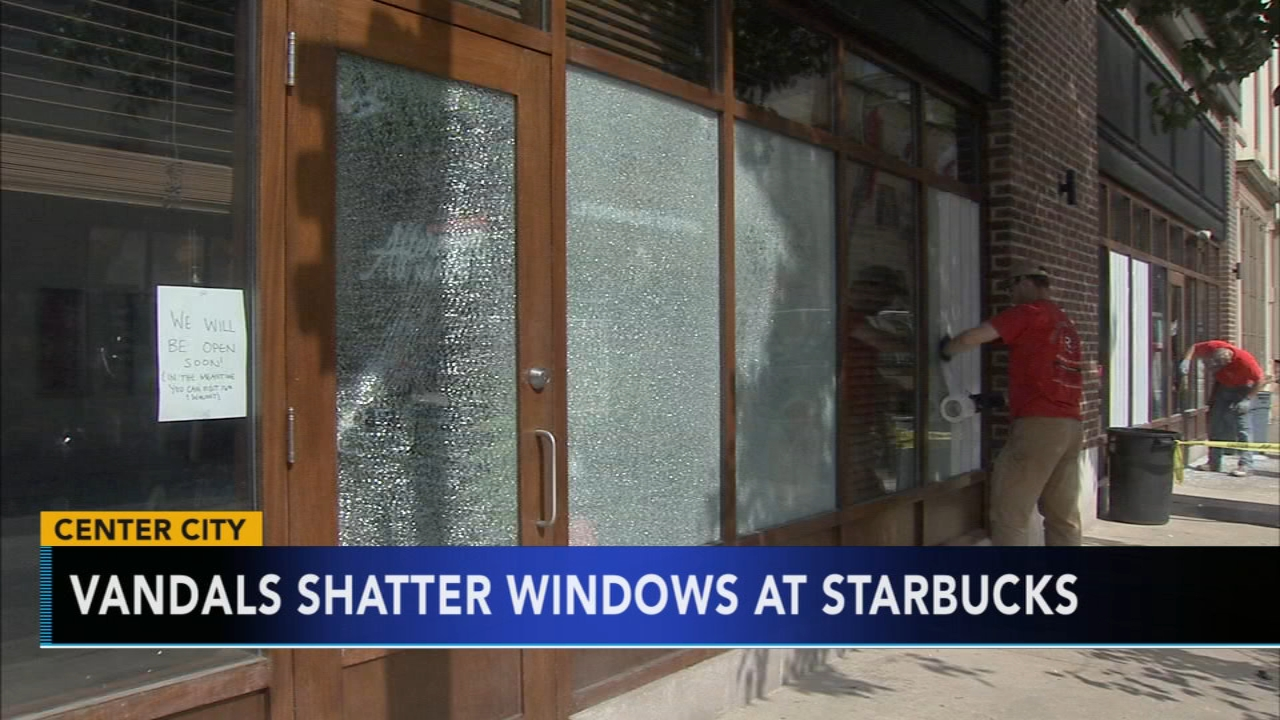 Center City Starbucks at center of controversy hit by vandals. Watch this report from Action News at 4:30 p.m. on September 3, 2018.