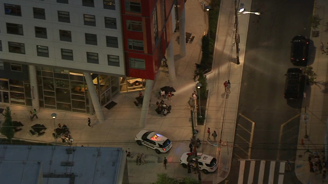 911 call leads to evacuation of apartments near Temple University; no threat found. Chopper 6 was over the scene on September 3, 2018.
