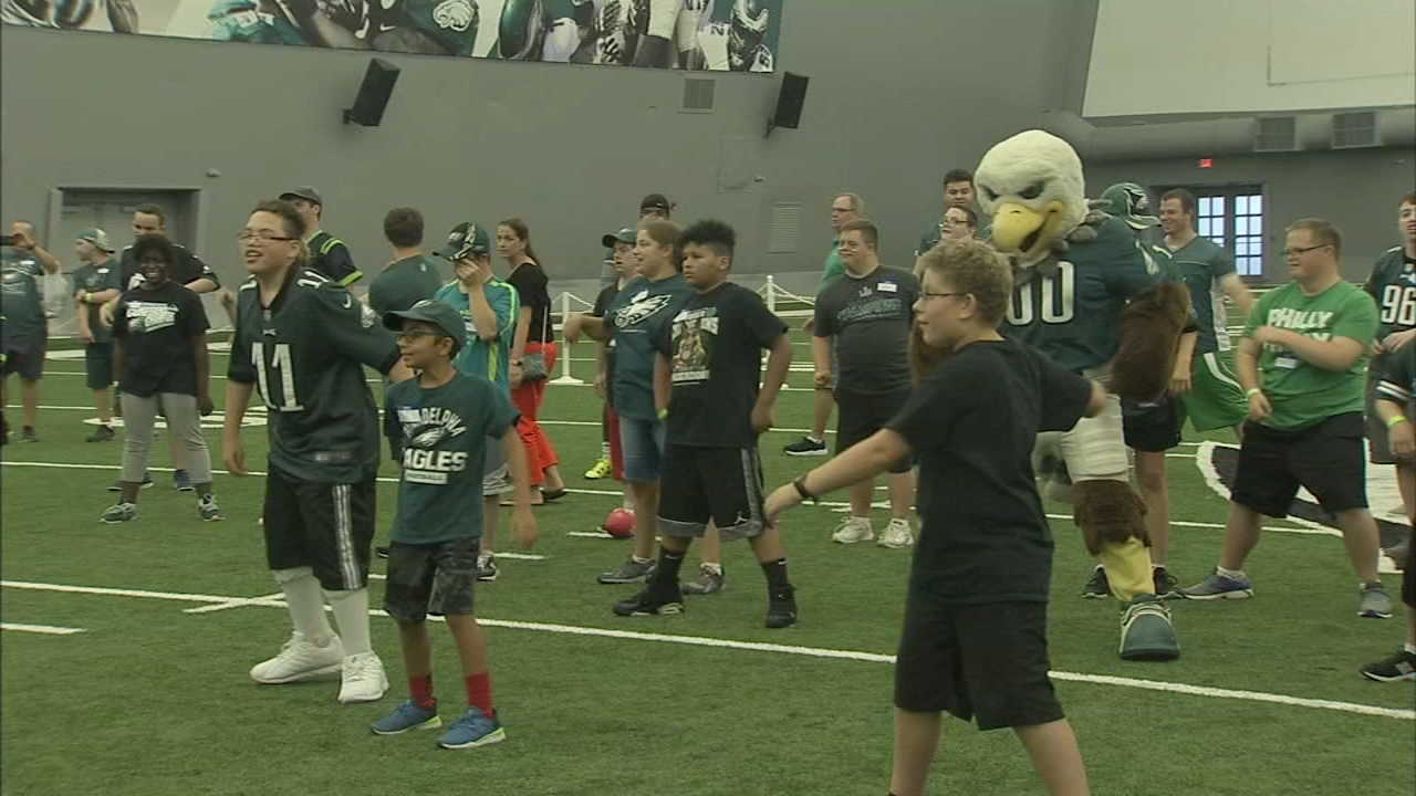 The NFL and the Philadelphia Eagles hosted a Special Olympics Unified Flag Football game as reported during Action News at 10 on September 4, 2018.
