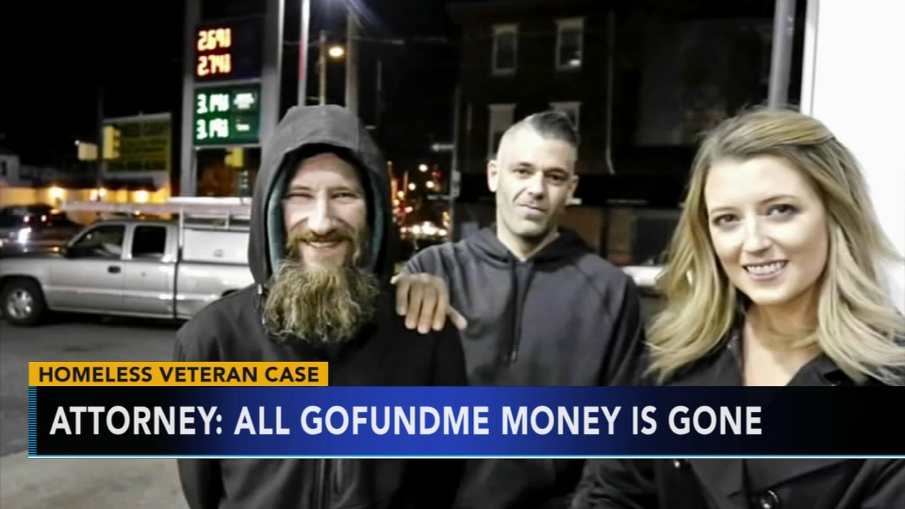 All GoFundMe money is gone, attorney for homeless man says. Chad Pradelli reports during Action News at 4:30pm on September 4, 2018.