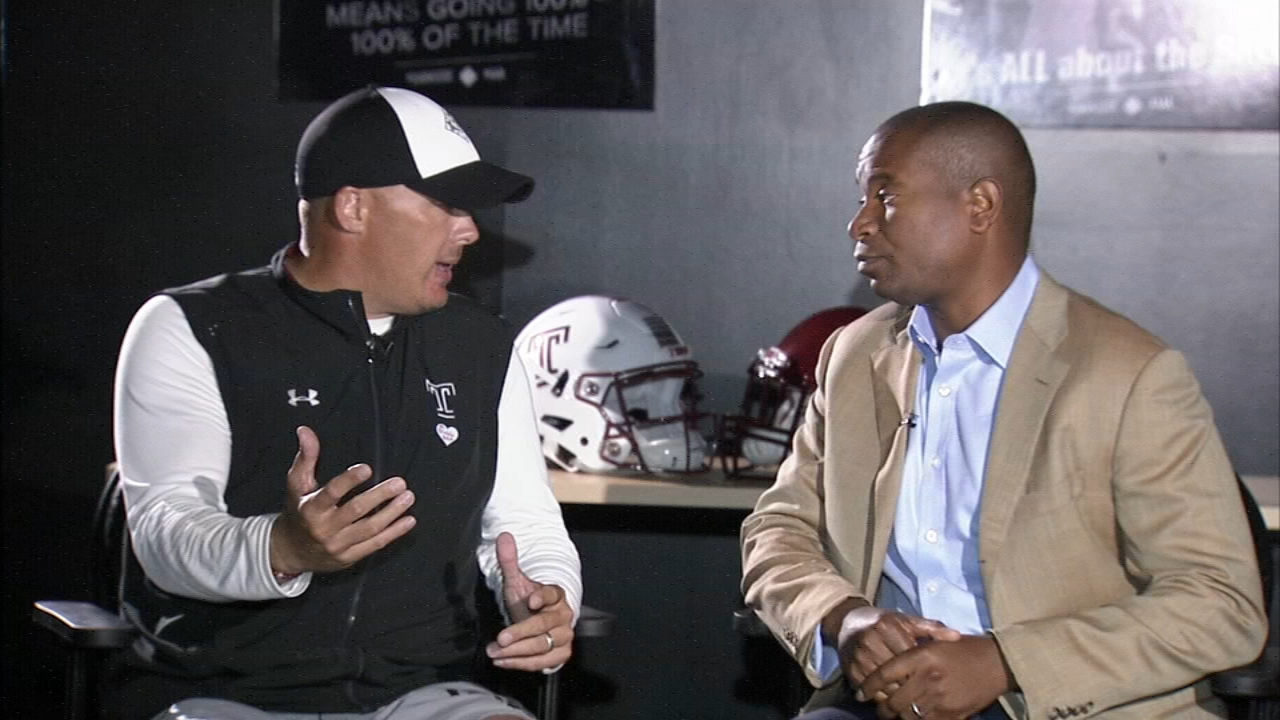Temple Football Playbook with Ducis Rodgers and Coach Collins. Ducis Rodgers reports during Action News at 9 a.m. on September 8, 2018.