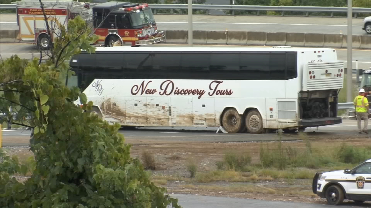 Several passengers injured after tour bus crashes into guardrail