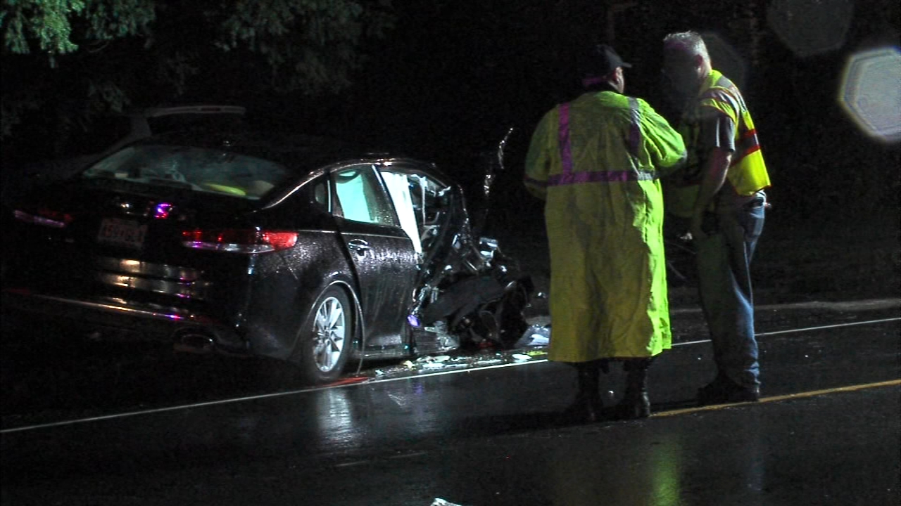 2 hospitalized after car hits utility pole in Monroe Township. Nydia Han reports during Action News at 6 a.m. on September 9, 2018.