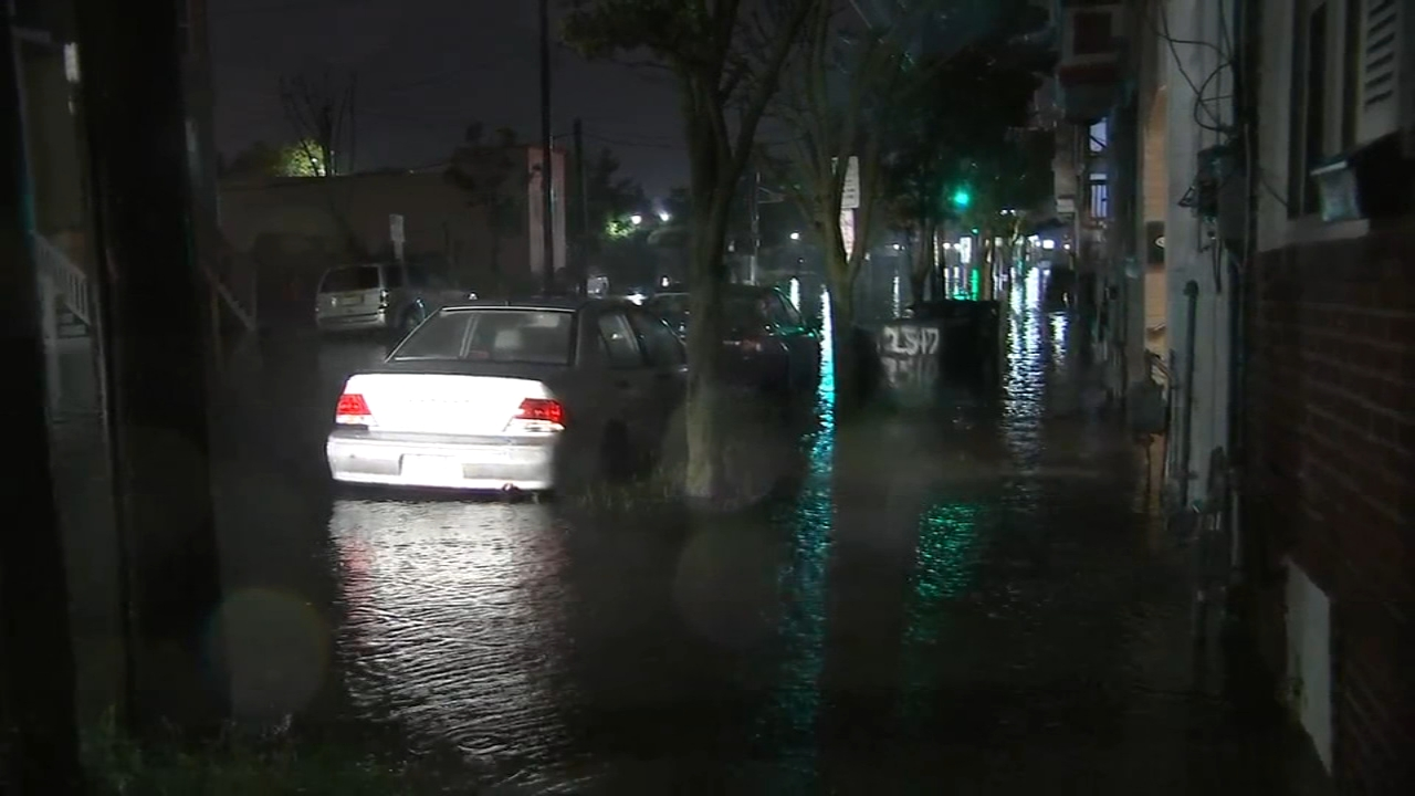 Flash flooding overtakes streets at Jersey Shore. Jeannette Reyes reports during Action News at 4 a.m. on September 10, 2018.