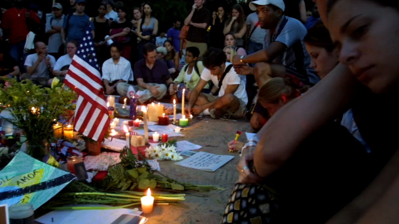 US marks 9/11 with somber tributes, new monument to victims. ABC News Kendis Gibson reports during Action News at 4 a.m. on September 11, 2018.