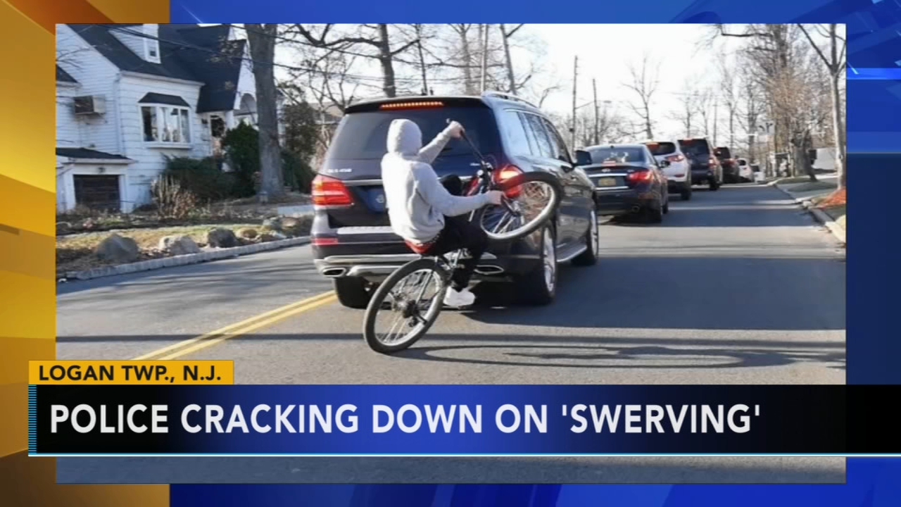 Logan Township police warn bicyclists about swerving. Tamala Edwards reports during Action News at 4 a.m. on September 11, 2018.