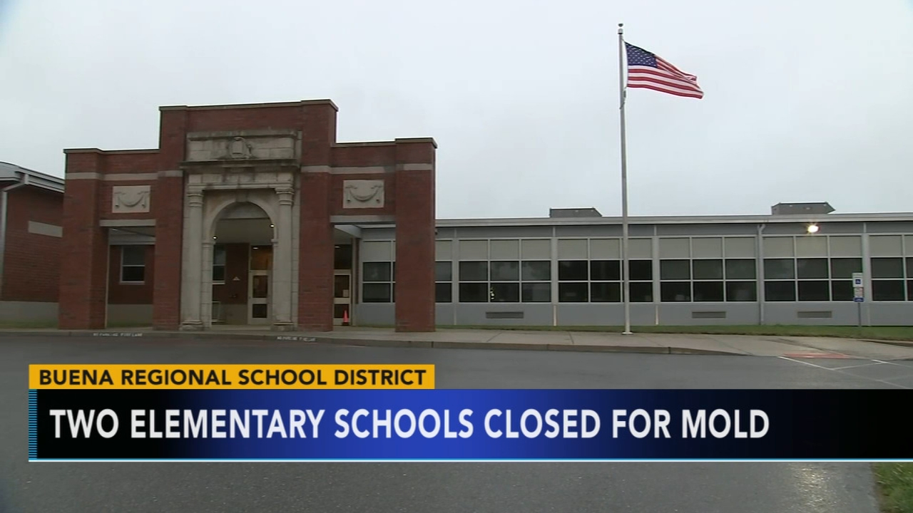 Mold forces closure of two Buena schools. Tamala Edwards reports during Action News at 4 a.m. on September 11, 2018.