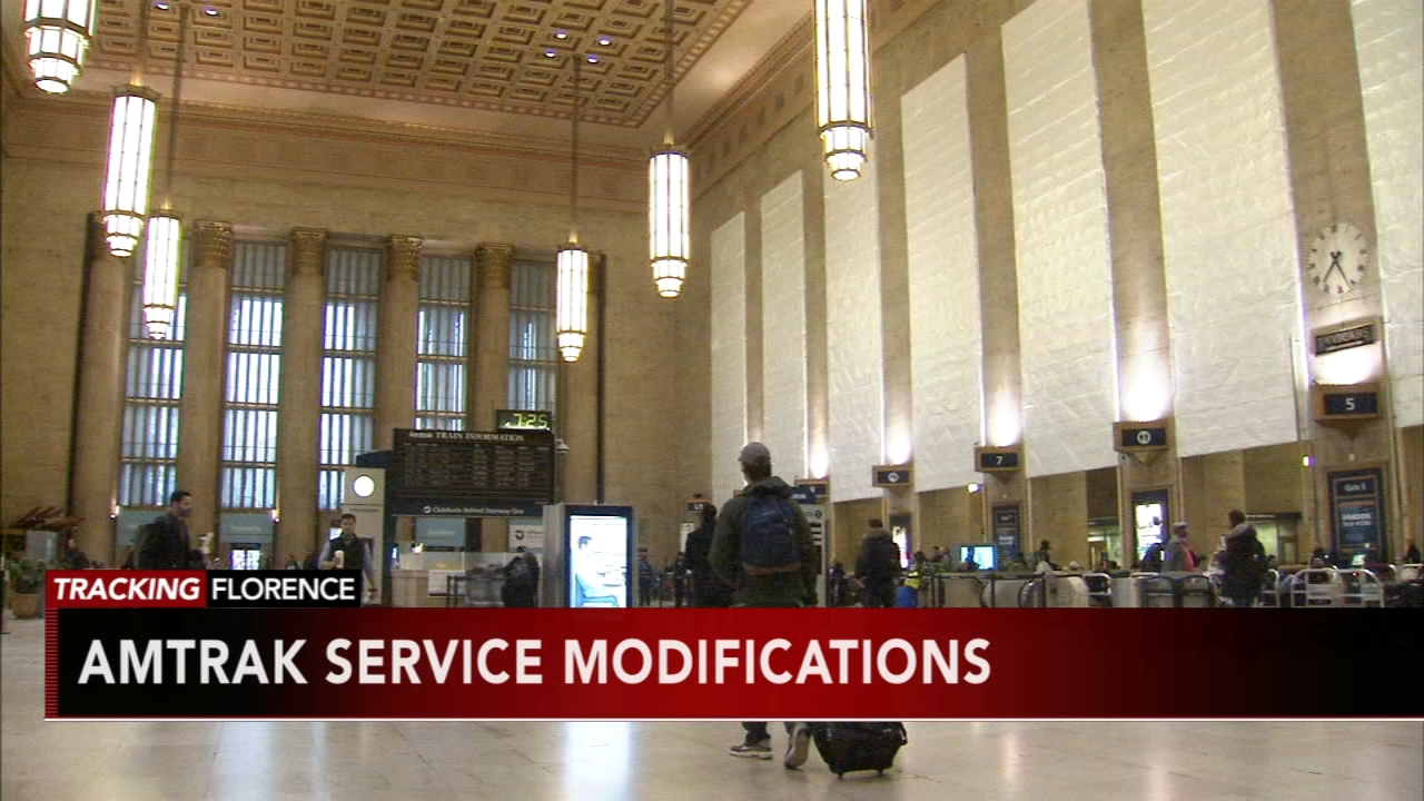 Amtrak modifying service due to Florence. Matt ODonnell reports during Action News Mornings on September 12, 2018.