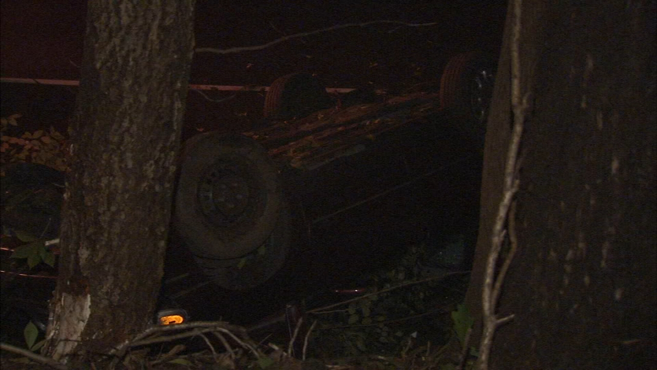 Vehicle overturns in Fairmount Park. Matt ODonnell reports during Action News Mornings on September 12, 2018.