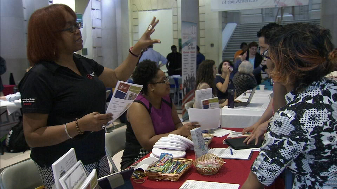 Career resource fair was at the Parkway Central Library as reported during Action News at 4 on September 12, 2018..