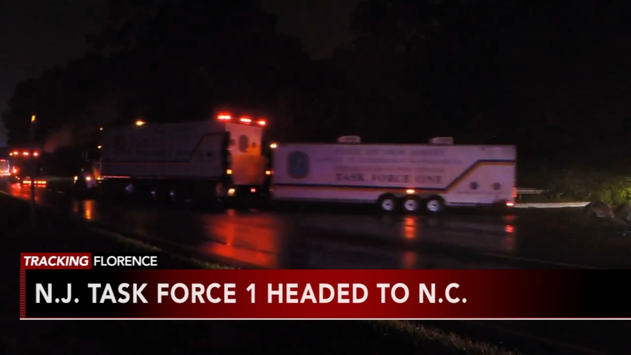 N.J. Task Force heads to North Carolina. Matt ODonnell reports during Action News Mornings on September 12, 2018.