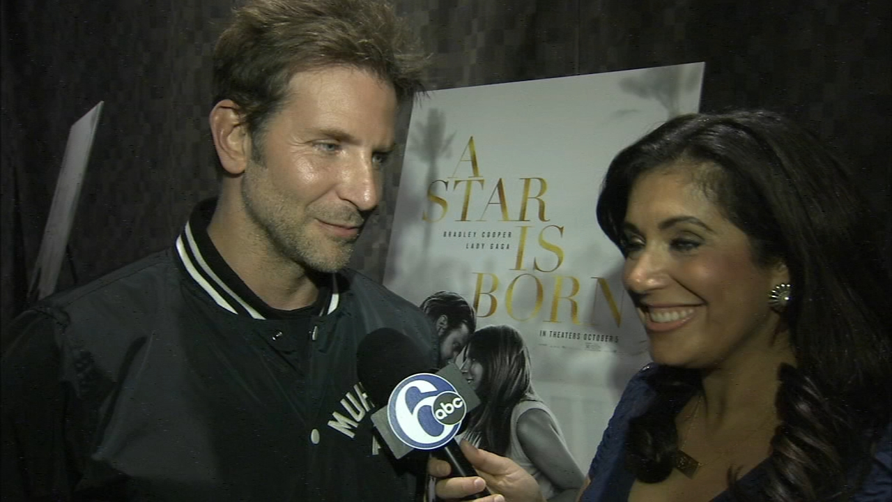 Bradley Cooper in Philadelphia to promote A Star is Born: Alicia Vitarelli reports on Action News at 4 p.m., September 13, 2018