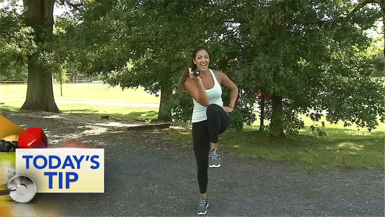 Shoshana shows you how to work the abs without having to get on the floor.