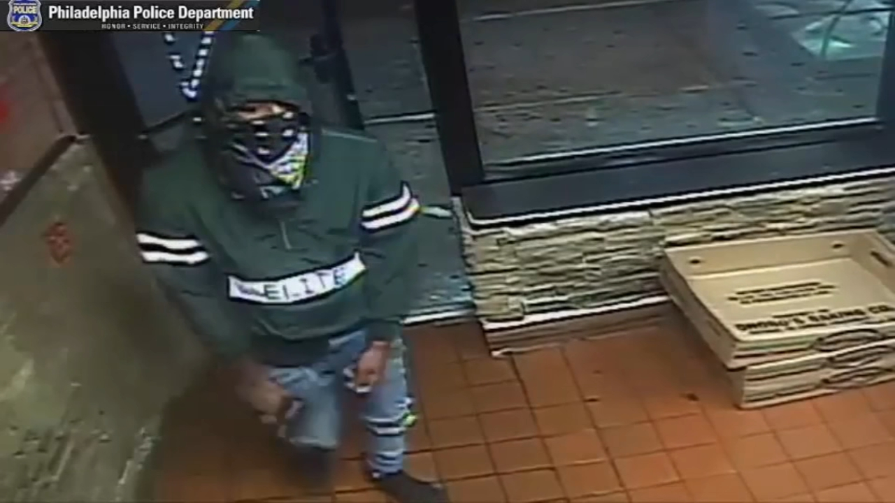 Armed robbery of West Oak Lane pizza shop caught on camera on September 11, 2018.