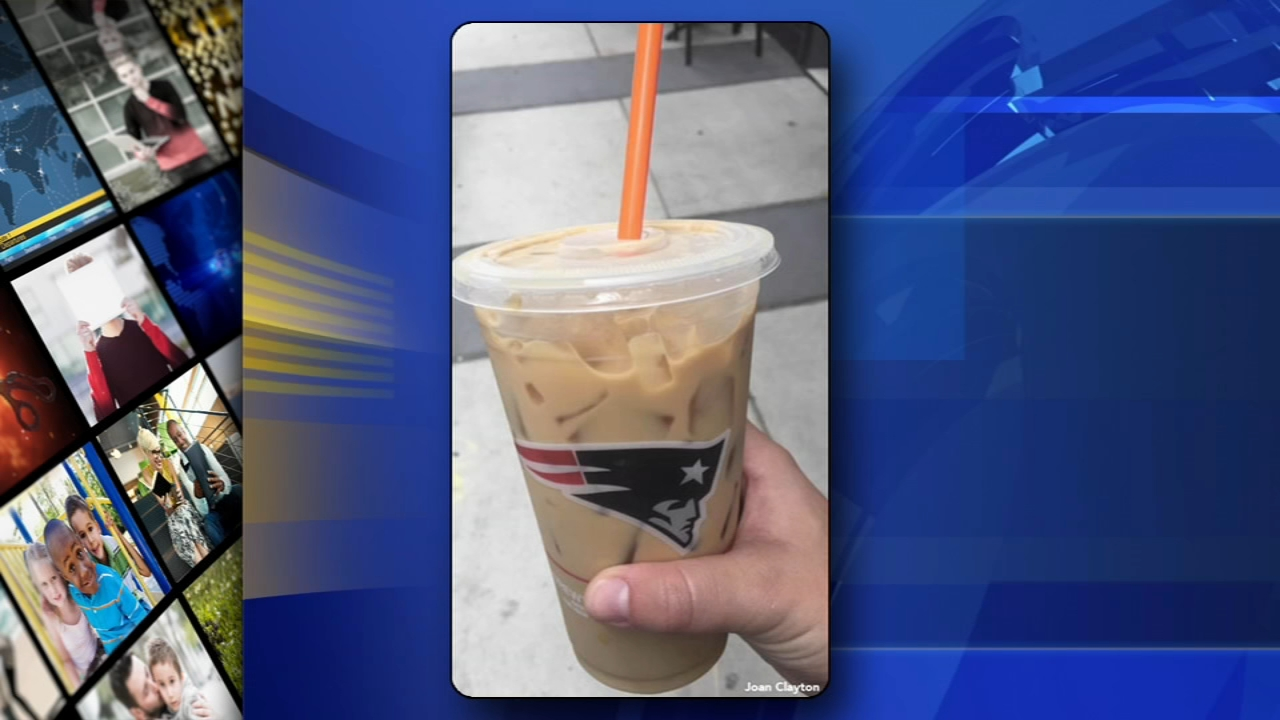 Penalty flag! New England Patriots cup sold at Philly Dunkin Donuts: Alicia Vitarelli reports during Action News at 4:30pm on September 14, 2018.