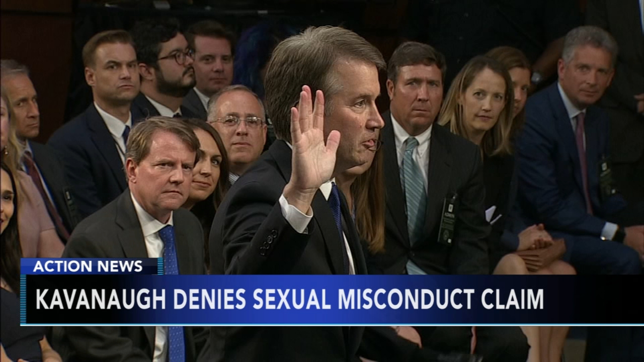 Kavanaugh denies allegation of sexual misconduct in school. Sharrie Williams reports during Action News at 10 p.m. on September 14, 2018.