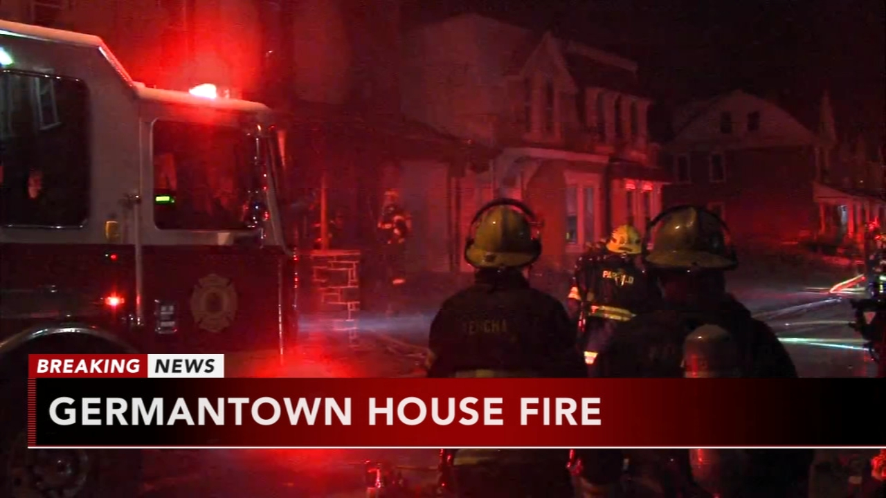 Firefighters battle house fire in Germantown. Nydia Han reports during Action News at 6 a.m. on September 16, 2018.