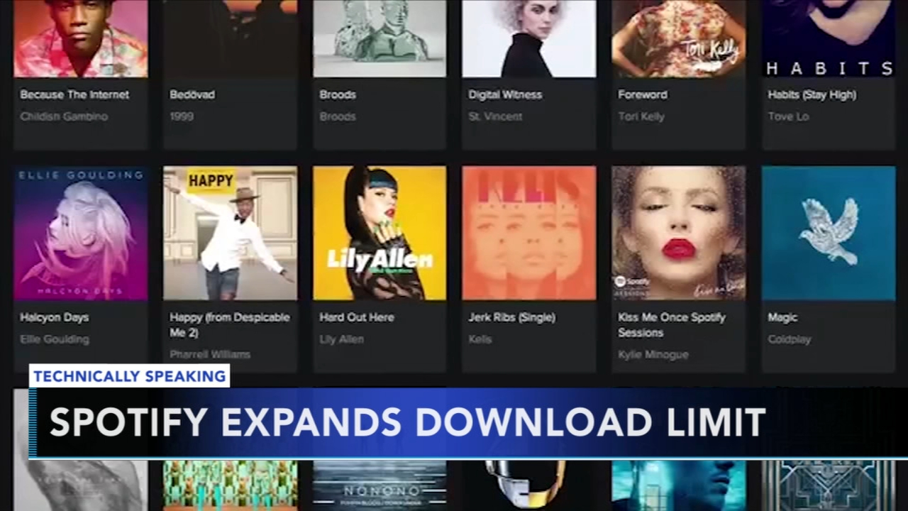Spotify to increase download limit for off-line listening. Nydia Han reports during Action News at 9 a.m. on September 16, 2018.
