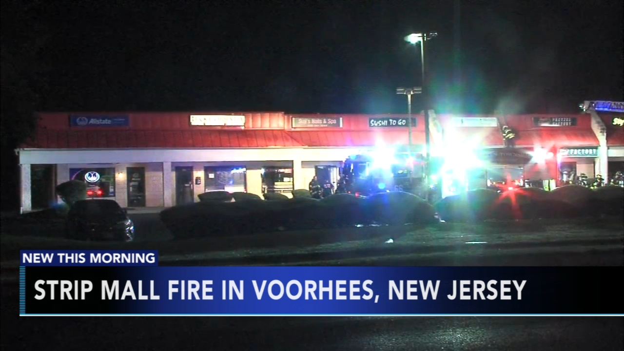 Voorhees strip mall badly damaged by fire. Nydia Han reports during Action News at 6 a.m. on September 16, 2018.