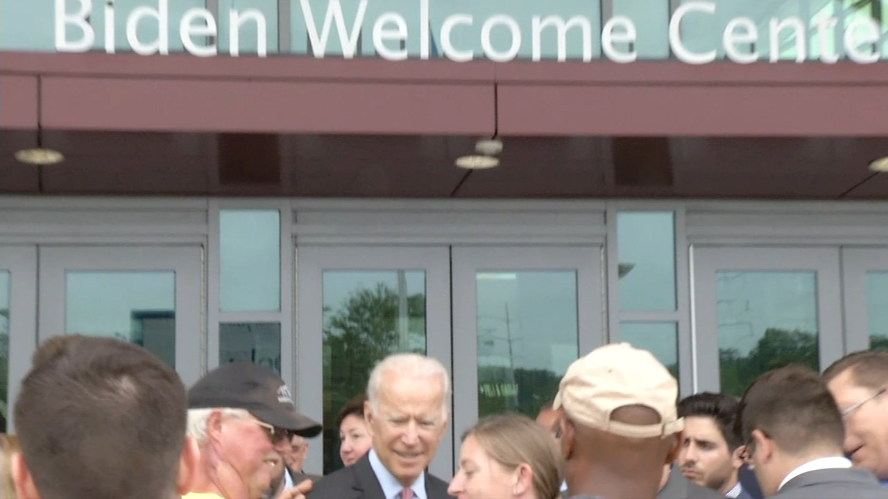 Newark Welcome Center is now the Biden Welcome Center. Jim Gardner reports during Action News at 11 p.m. on September 17, 2018.