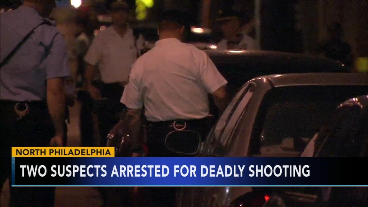 Man shot and killed in North Philadelphia; 2 men in custody. Jim Gardner reports during Action News at 11 p.m. on September 17, 2018.