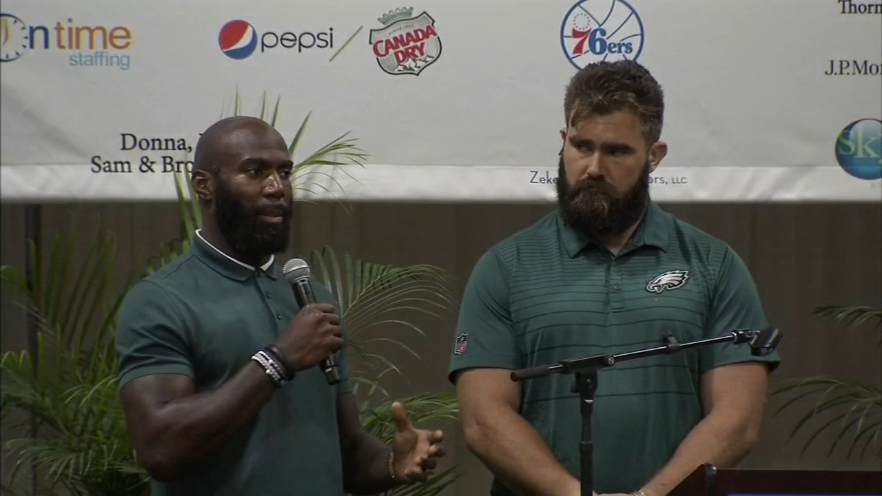 Eagles players Malcolm Jenkins and Jason Kelce were the keynote speakers as rteported by Christie Ileto during Action News at 11 on September 17, 2018.