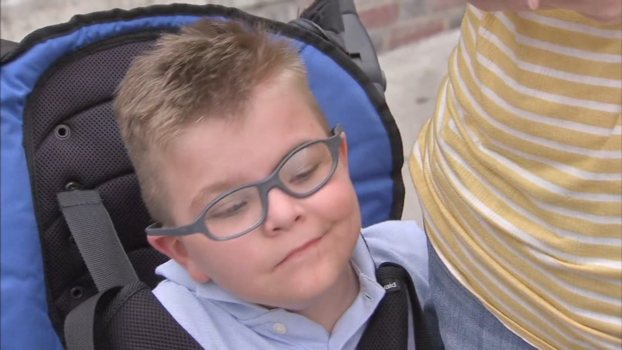 Thief swipes wheelchair used by boy, 8, with cerebral palsy. Walter Perez reports during Action News at 4:30pm on September 17, 2018.