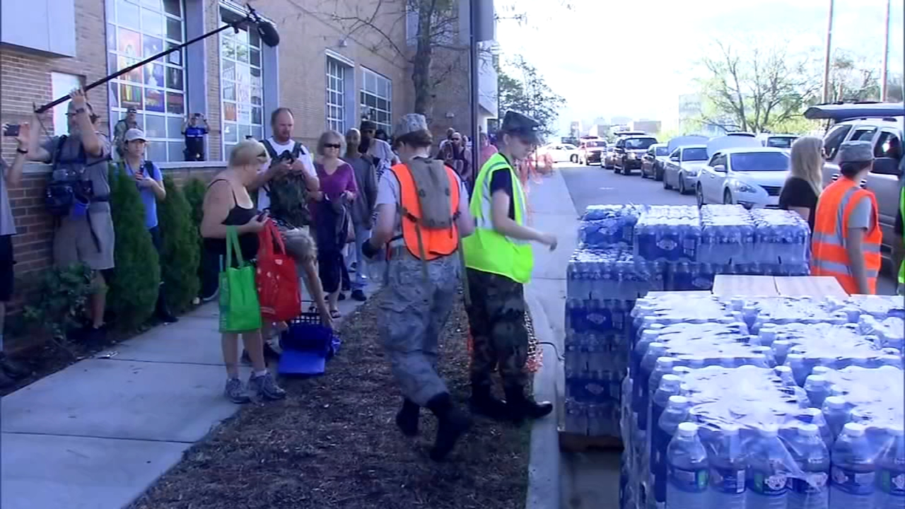 Flood victims get food and water; rain spreads to Northeast. Marci Gonzalez reports during Action News at Noon on September 18, 2018.