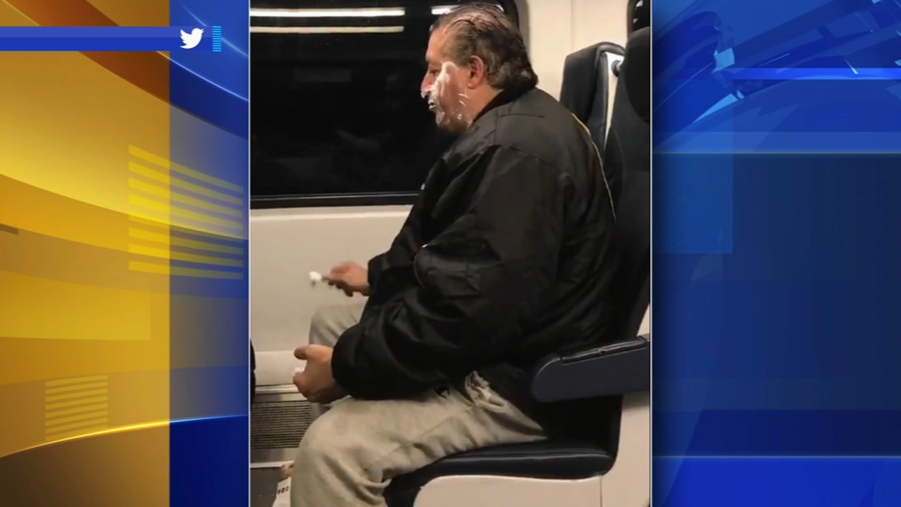 Man caught shaving on New Jersey Transit train: Vernon Odom reports on Action News at 6 p.m., September 18, 2018