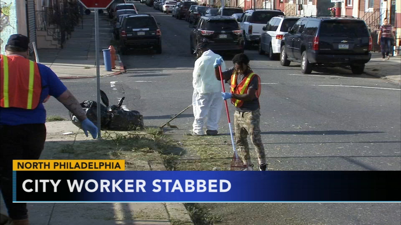 City worker stabbed in North Philadelphia. Sharrie Williams reports during Action News at 4 p.m. on September 19, 2018.