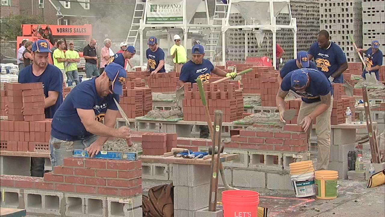 Craftsmen compete in Delco to be named Pennsylvanias Best Bricklayer: Sharrie Williams reports during Action News at 4:30pm on September 20, 2018.