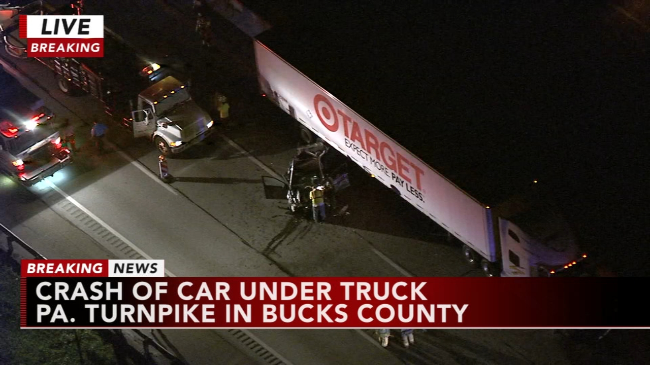 1 person seriously injured in crash on Pa. Turnpike in Bucks County. Watch the report from Action News at 11 p.m. on September 20, 2018.