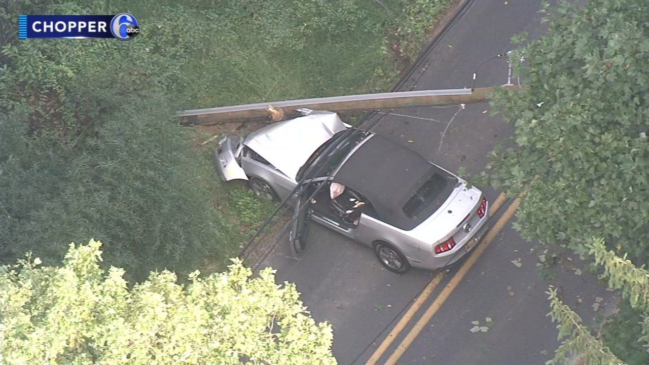 Homes lose power after car hits pole in Delaware. Watch this report from Action News at Noon on September 21, 2018.