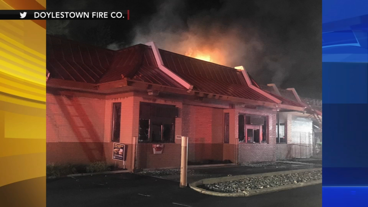 Fire damages McDonalds in Bucks County. Matt ODonnnell reports during Action News Mornings on September 21, 2018.