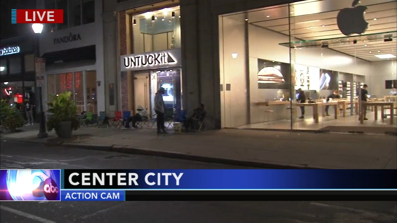 People wait in line for new iPhone. Tamala Edwards reports during Action News Mornings on September 21, 2018.