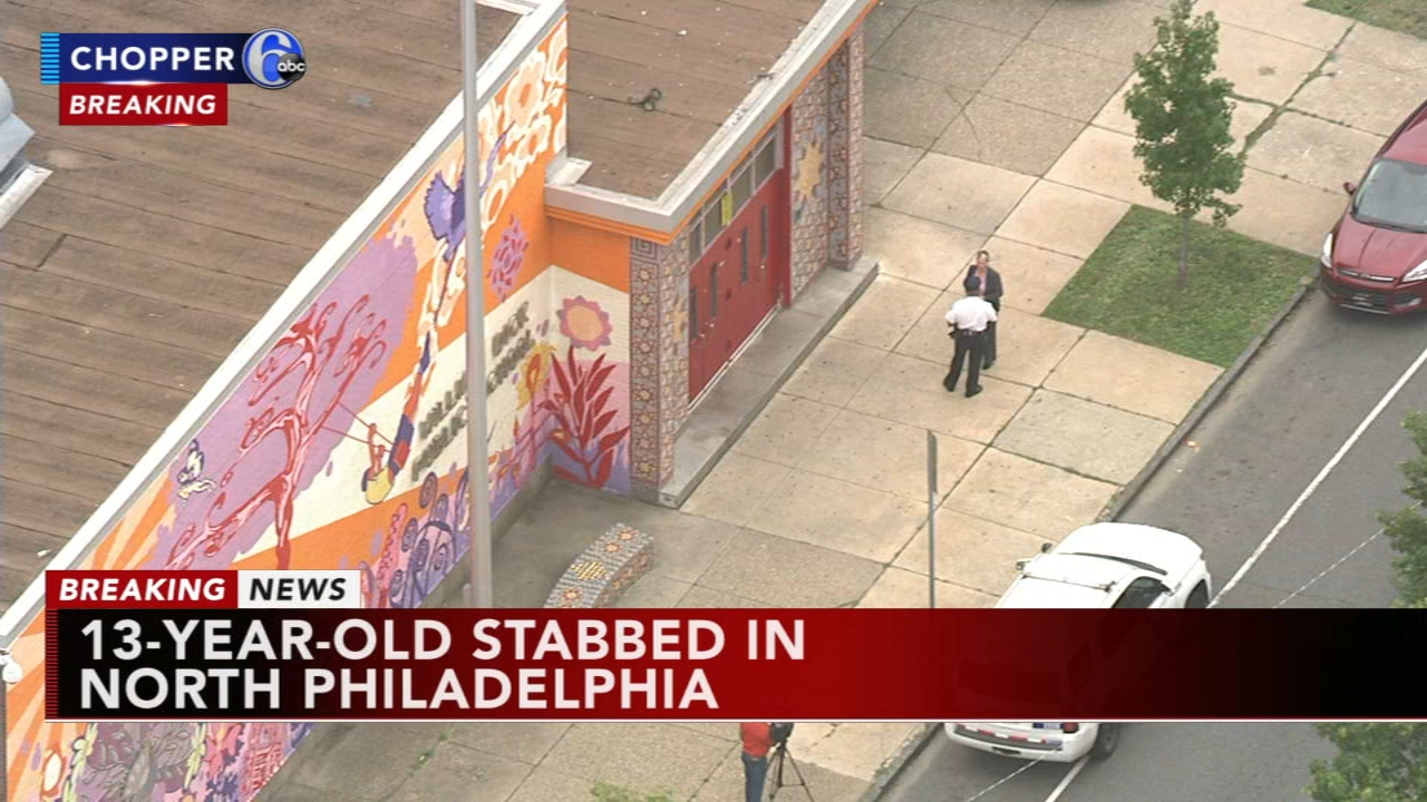 13-year-old stabbed in North Philadelphia. Bob Brooks reports during Action News at Noon on September 21, 2018.