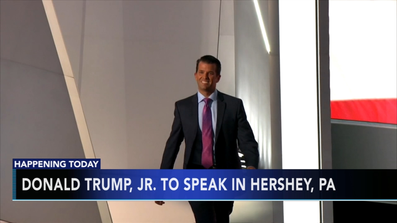 Donald Trump, Jr. to speak in Hershey, Pa. Matt ODonnell reports during Action News Mornings on September 21, 2018.