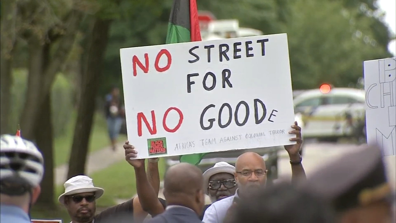 Protests at ceremony naming street after Wilson Goode. Watch this report from Action News at Noon on September 21, 2018.