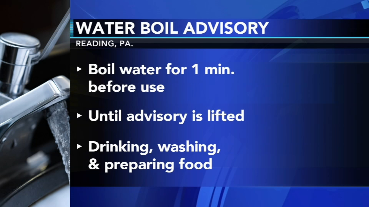 Water boil advisory issued in Reading. Sharrie Williams reported during Action News at 7 p.m. on September 22, 2018.
