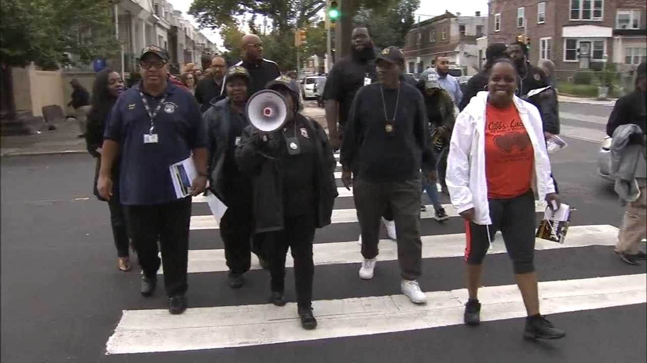 Police team up with community for peace walk in SW Philly. Christie Ileto reports during Action News at 7 p.m. on Septembr 22, 2018.
