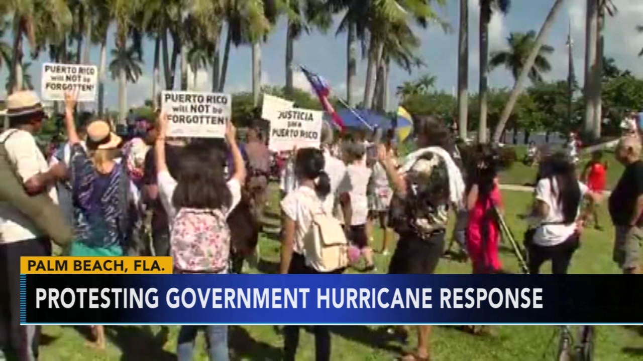 Hundreds mark Hurricane Maria anniversary with rally near Trump resort. Nydia Han reports during Action News at 9 a.m. on September 23, 2018.