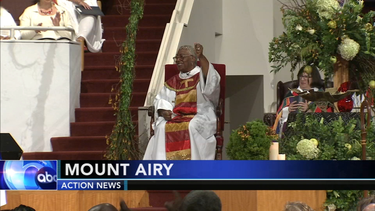 History made with installation of first African-American woman Bishop in Mount Airy. Nydia Han reports during Action News at 7 a.m. on September 23, 2018.