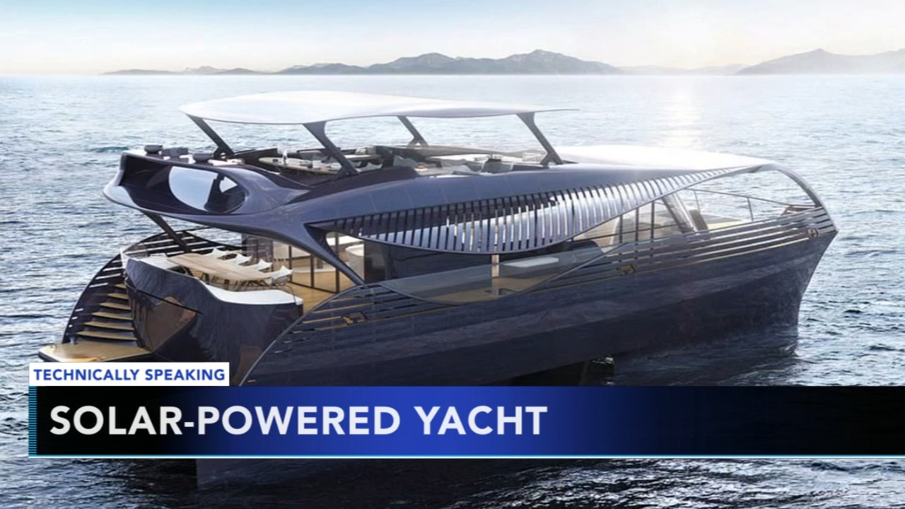 Swiss designers unveil solar-powered yacht. Nydia Han reports during Action News at 9 a.m. on September 23, 2018.