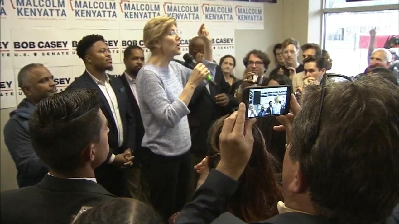 Sen Elizabeth Warren visits Philly: Christie Ileto reports on Action News at 6 p.m., September 23, 2018