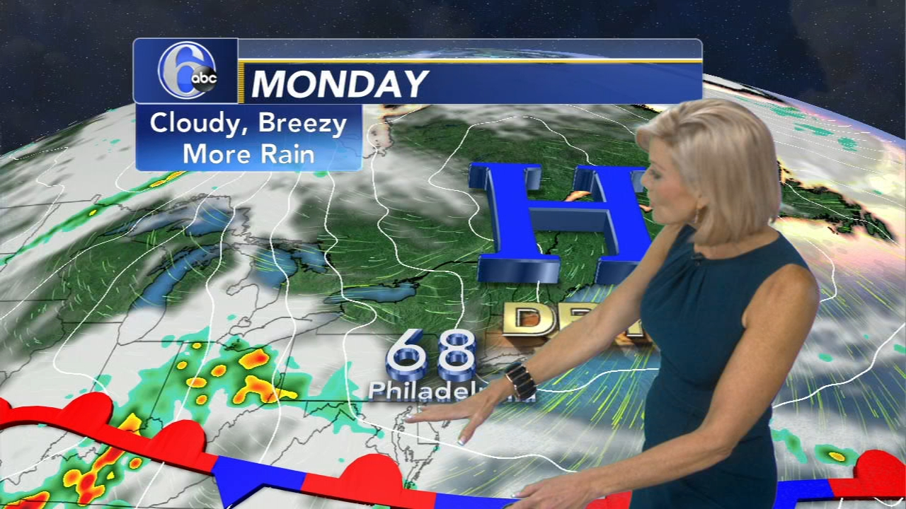 Cecily Tynan with AccuWeather on Action News at 11 p.m., September 23, 2018