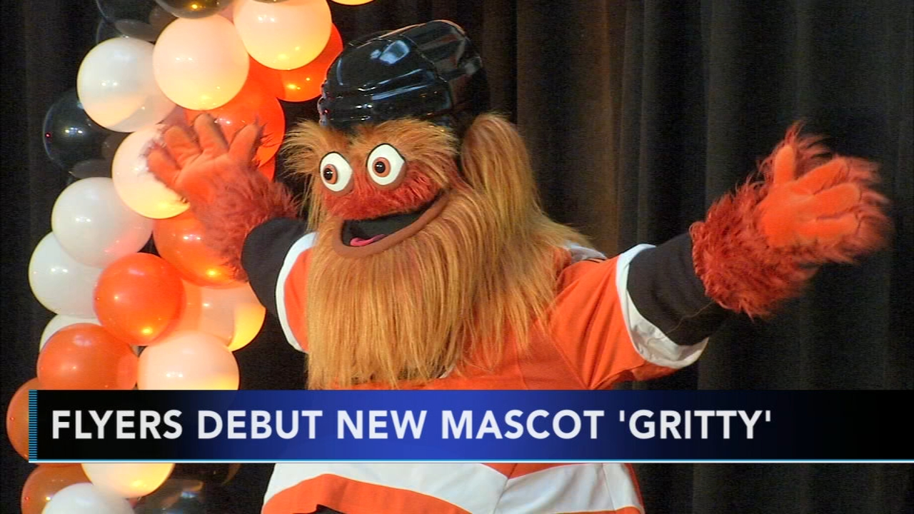 Flyers debut new mascot, Gritty. Watch the report from Alicia Vitarelli on Action News at 4 p.m. on September 24, 2018.