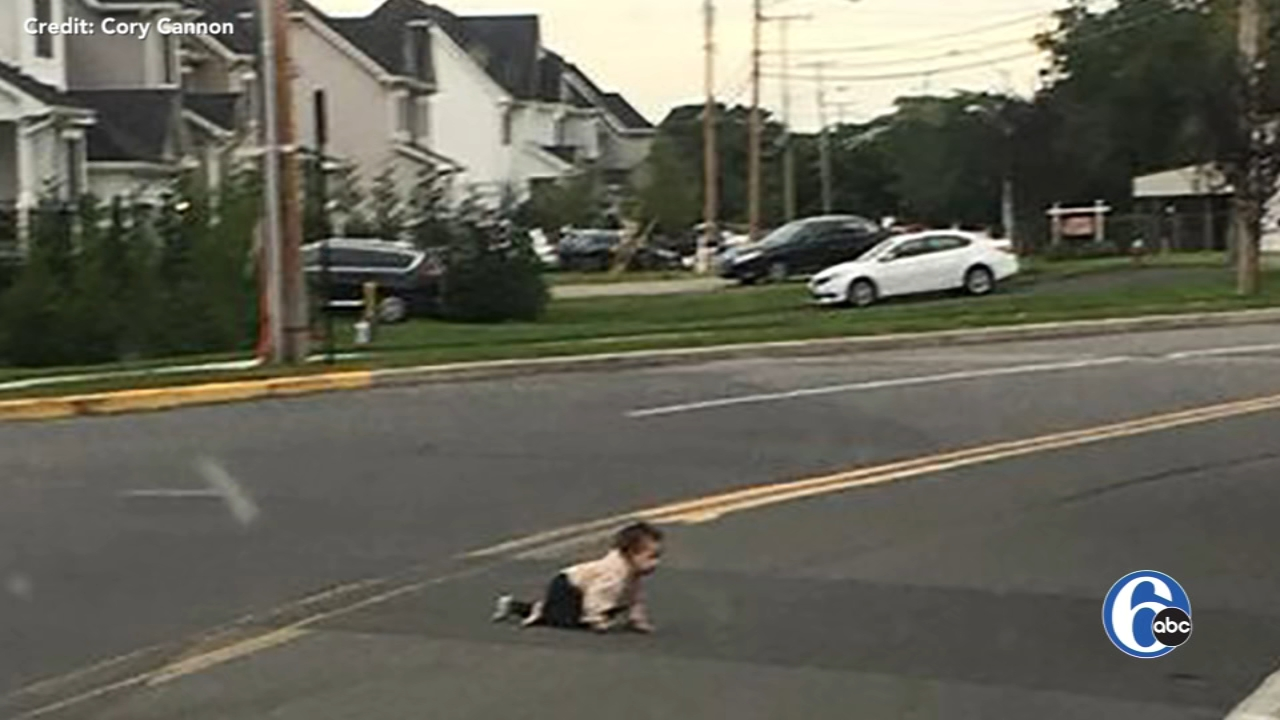 Driver finds baby crawling across busy New Jersey road. Watch the report from 6abc.com on September 24, 2018.